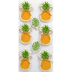 Rössler klistermærker, Ananas og monstera