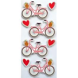 Rössler klistermærker, Lyserød cykel og hjerter