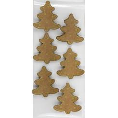 Rössler klistermærker, Juletræer med guld