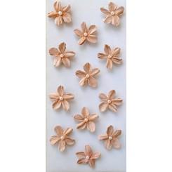 Rössler klistermærker, Rosa blomster med perle