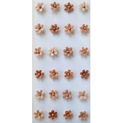 Rössler klistermærker, Rosa blomster med perle, mini