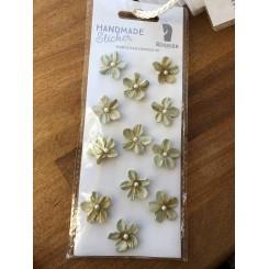 Rössler klistermærker, Støvet grønne blomster med perle