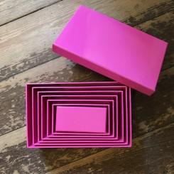 Æsker, ensfarvet, pink, 7 størrelser