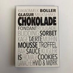 Kunstklods, Chokolade