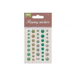 Popping stickers runde, grønne nuancer