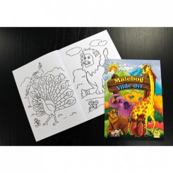 Malebog - Vilde dyr - 48 sider