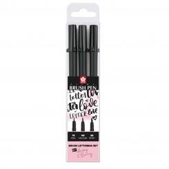 Sakura Pigma Brush Pen Lettering Set, 3 stk.