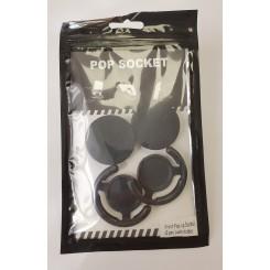 Pop socket, 2 stk. inkl. holder, sort