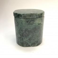 Hübsch krukke, grøn marmor, rund med kanter