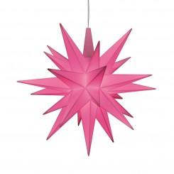 Adventsstjerne, plast, 13cm, samlet, rosa (LED)