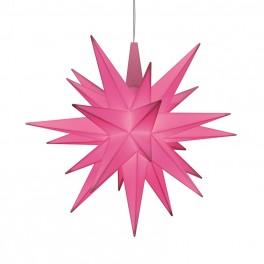 Adventsstjerne, plast, 13cm, samlet, rosa LIMITED EDITION 2021 (LED)
