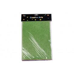 Skumplader A4 m. glimmer, 10 stk. ass. farver
