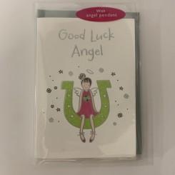Englekort med vedhæng, Good luck angel