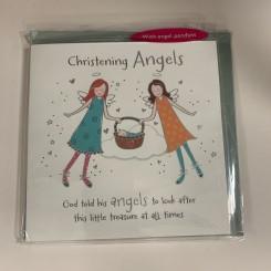 Englekort med vedhæng, Christening Angels