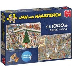 Puslespil Jan van Haasteren, Christmas Mall, 2 i 1, 1000 brikker