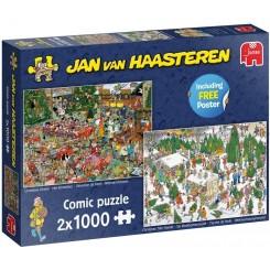 Puslespil Jan van Haasteren, Christmas Dinner, 2 i 1, 1000 brikker