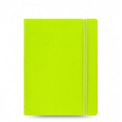 Filofax Notesbog læderlook - A5 - Grøn