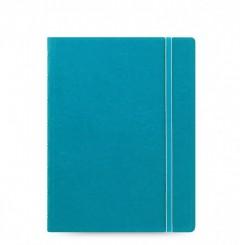 Filofax Notesbog læderlook - A5 - Aqua