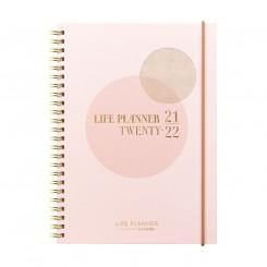 Ugekalender Life Planner Pink A5, 2021/2022