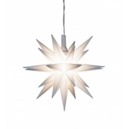 Adventsstjerne Miniature, plast, 8cm, samlet, hvid (LED)