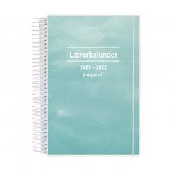 Lærerkalender, højformat 2i1, fiberpap, A5, 2021/2022