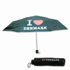 Paraply, I LOVE DENMARK