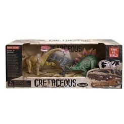 Cretaceous dinosaur, 3 stk.