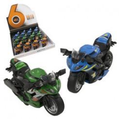 Motorcykel i metal med lyd og optræk