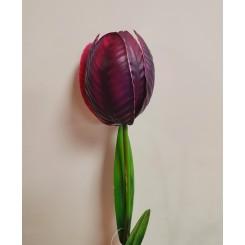 Tulipan, metal H 60, Lilla