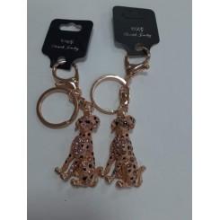 Nøglering / taskepynt glimmer, Metal, Dalmatiner