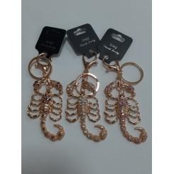 Nøglering / taskepynt glimmer, Metal, Skorpion