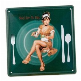 Metalskilt PIN-UP PLATE, grøn, 20x20