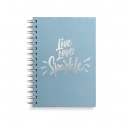 Notesbog, A5, Live love sparkle