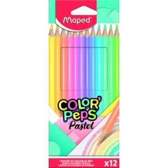 Maped Color' Peps Pastel farveblyanter 12 stk.
