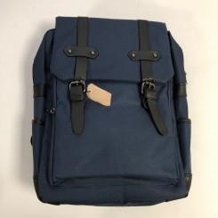 Blå canvas rygsæk