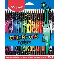 Maped monster color peps farveblyanter, 24 stk.