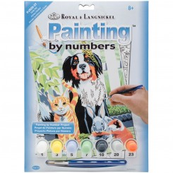 Paint by numbers, hund og kat