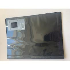 Black Dot mappe med plastik lommer A4, sort