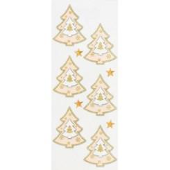 Rössler klistermærker, Juletræer med guld og stjerner