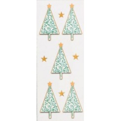 Rössler klistermærker, Juletræer med stjerne