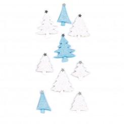 Rössler klistermærker, Juletræer i hvid og blå