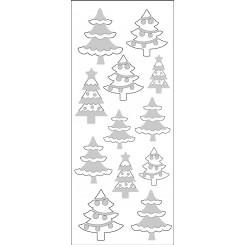 Rössler klistermærker, Juletræer med glimmer