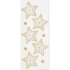 Rössler klistermærker, Stjerner med guld