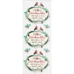 Rössler klistermærker, Frohe Weihnachten