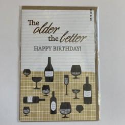 Artebene kort -Happy birthday, The older the better