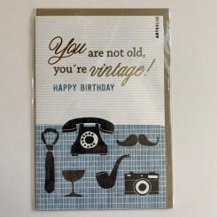 Artebene kort -Happy birthday, Vintage