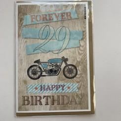 Artebene kort -Happy birthday, 29 forever