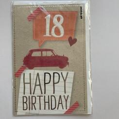 Artebene kort -Happy birthday, 18
