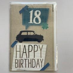 Artebene kort -Happy birthday, 18 blue