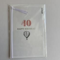 Artebene kort -Happy birthday, 40